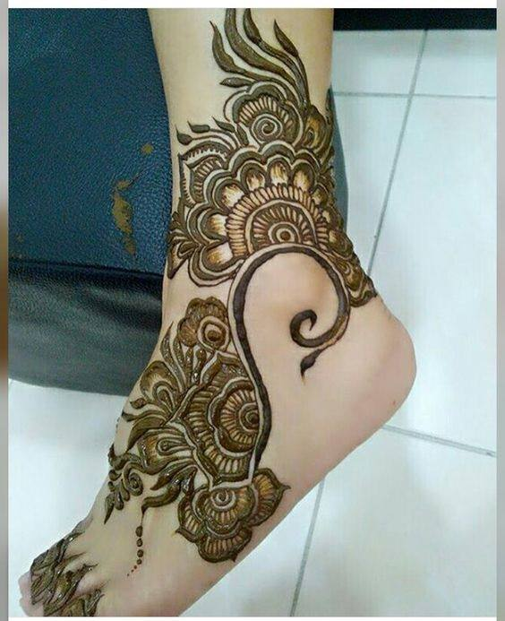 bridal mehndi designs for feet - 128798