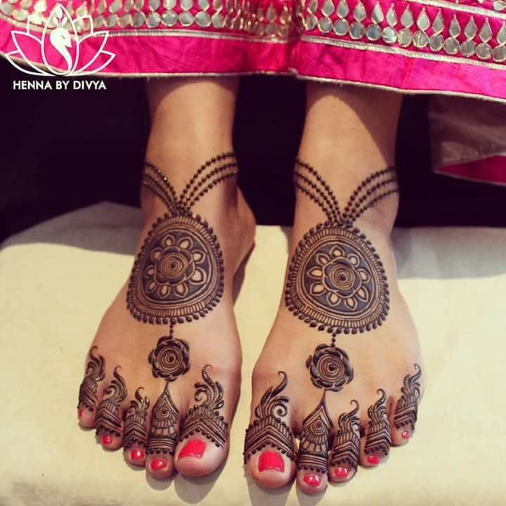 bridal mehndi designs for feet - 14676
