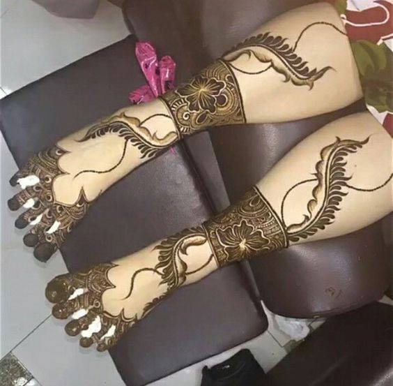 bridal mehndi designs for feet - 167987