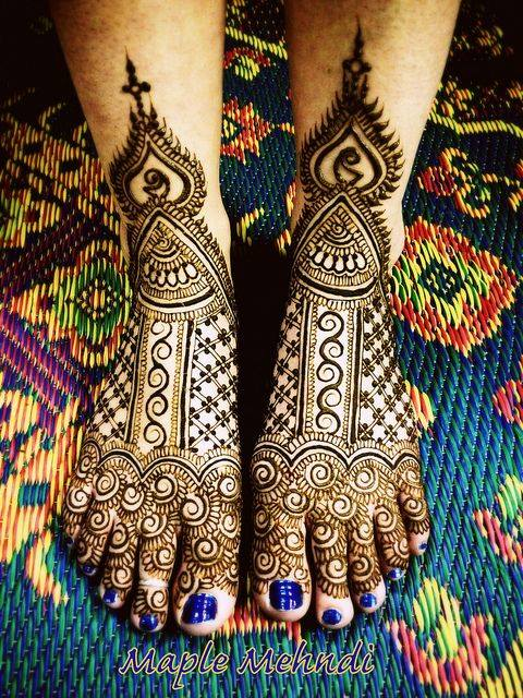 bridal mehndi designs for feet - 186676
