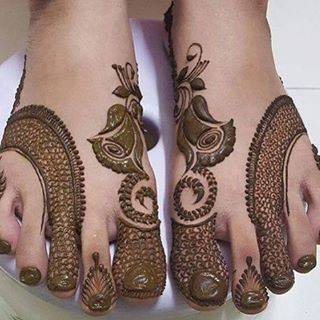 bridal mehndi designs for feet - 196876