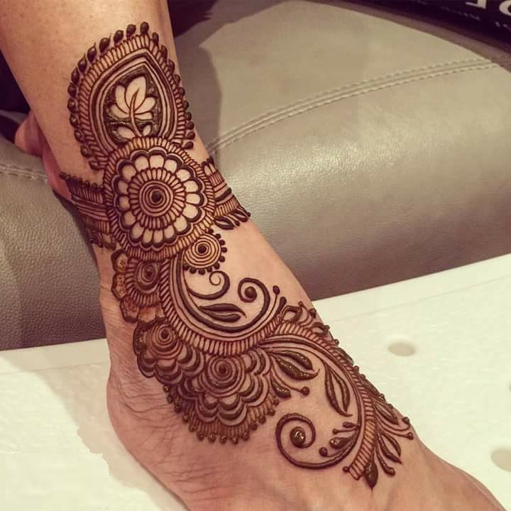 bridal mehndi designs for feet - 236687
