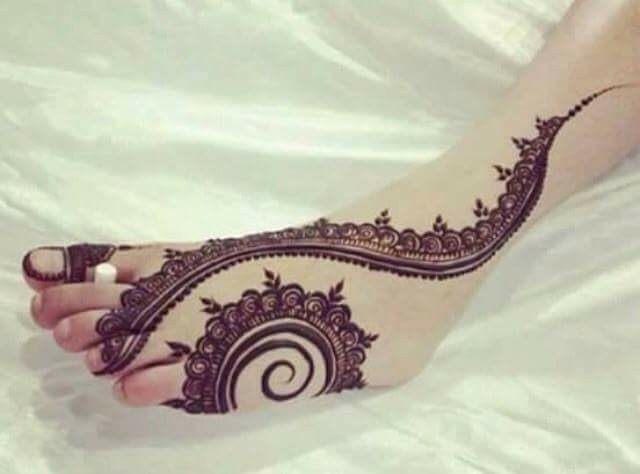 bridal mehndi designs for feet - 2476767