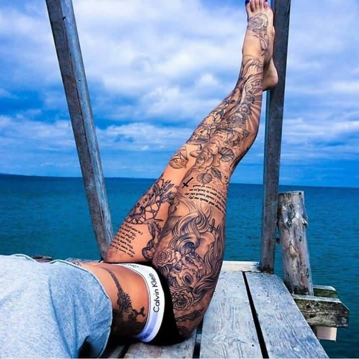 107leg tattoo idea