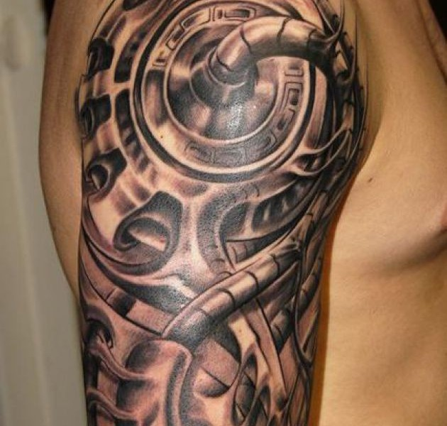10biomechanical tattoo idea