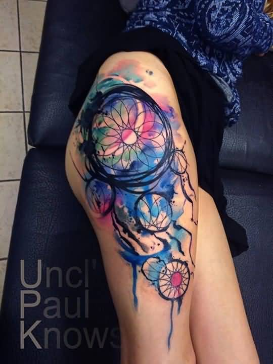 114leg tattoo idea