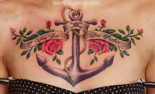 120anchor tattoo