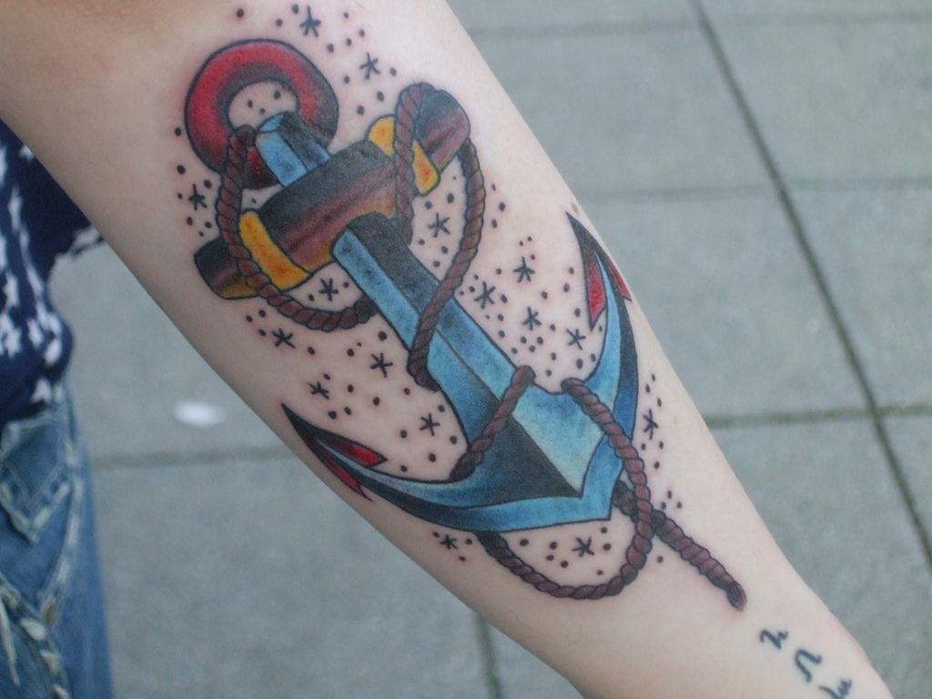 121anchor tattoo