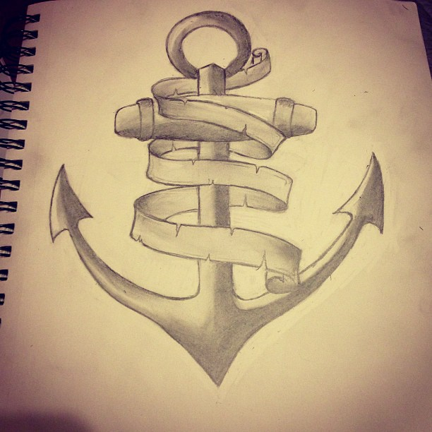 136anchor tattoo