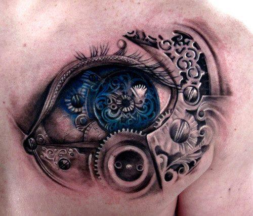 13biomechanical tattoo idea