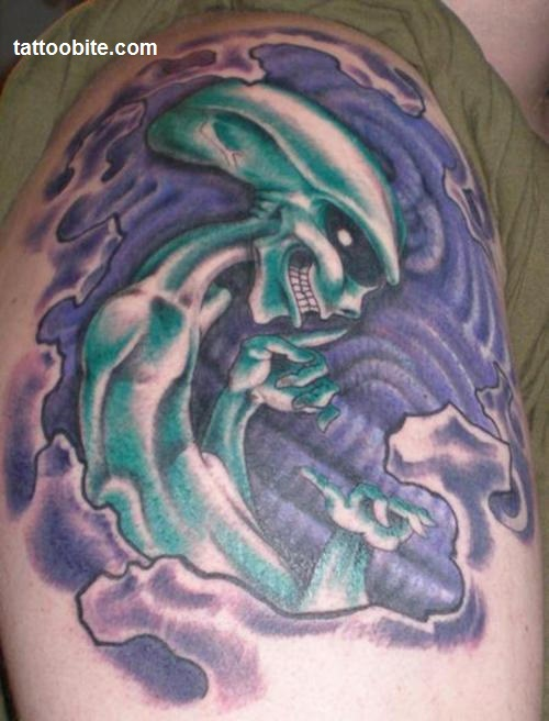 16Alien tattoo idea