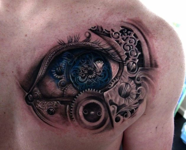 19biomechanical tattoo idea