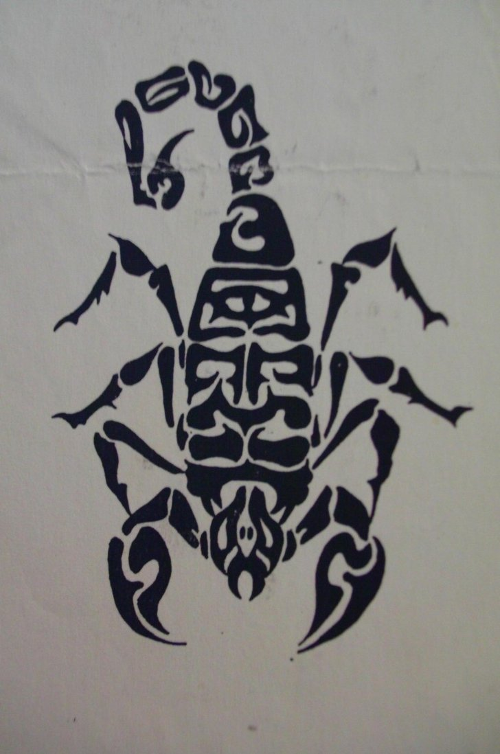 23black scorpio tattoo idea