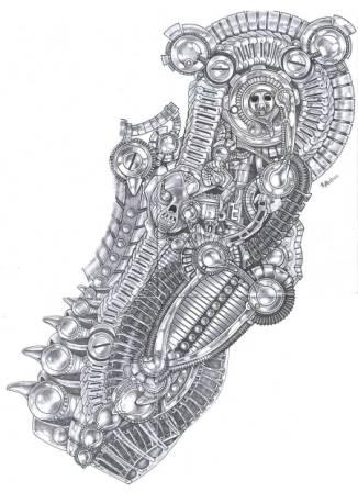 27biomechanical tattoo idea