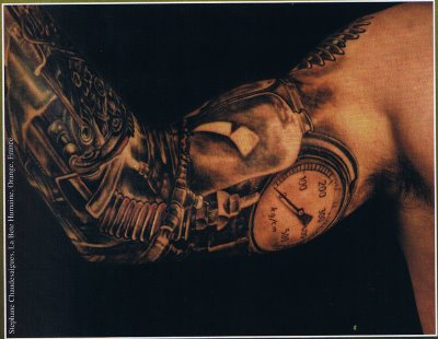 31biomechanical tattoo idea
