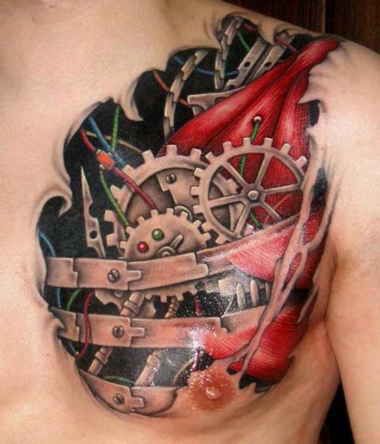 33biomechanical tattoo idea
