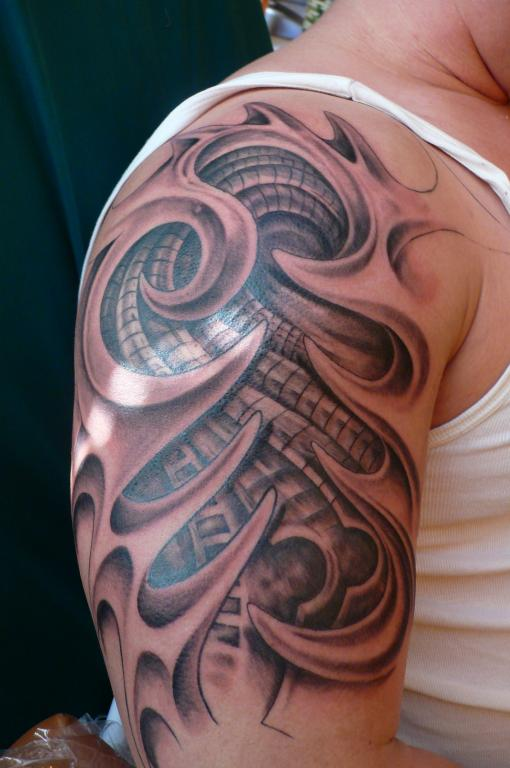 36biomechanical tattoo idea