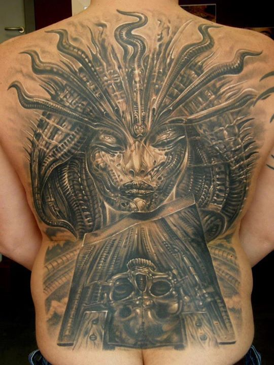 3biomechanical tattoo idea