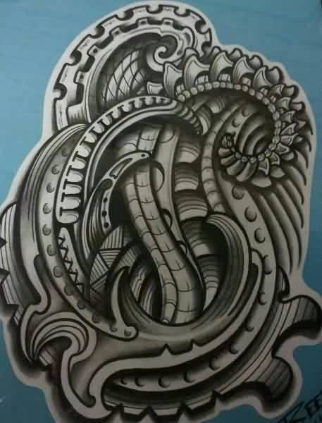 41biomechanical tattoo idea