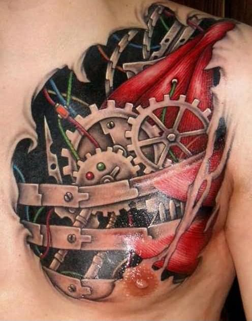 46biomechanical tattoo idea