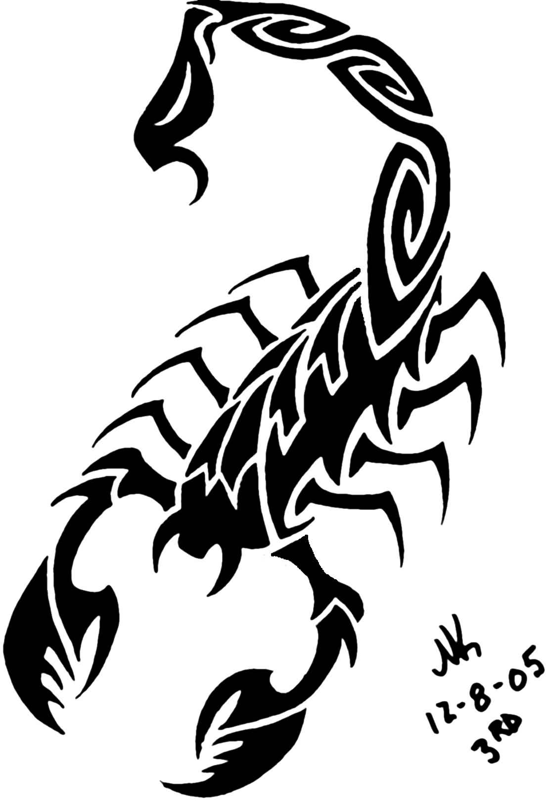 46black scorpio tattoo idea