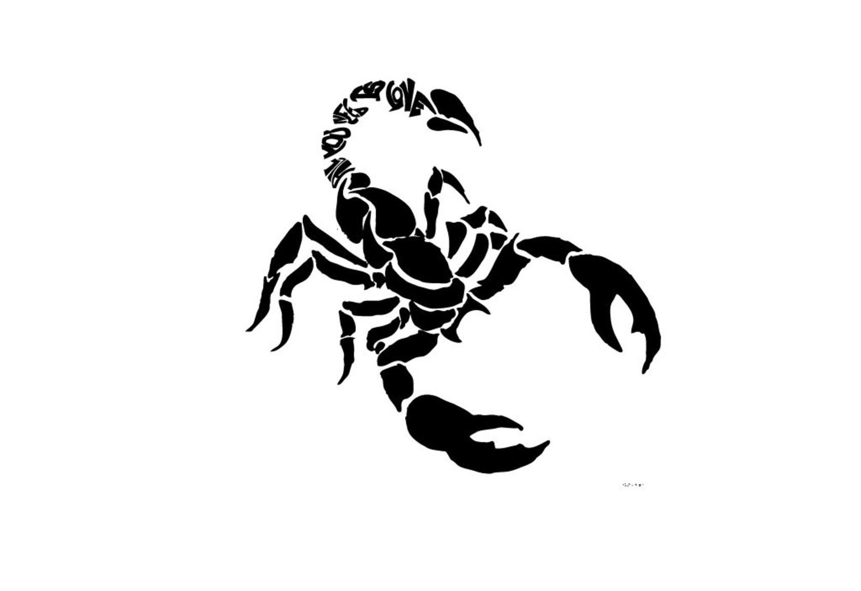 47black scorpio tattoo idea