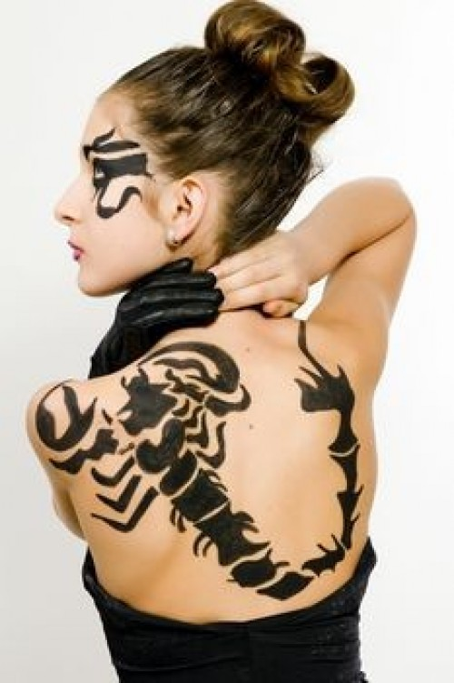 55black scorpio tattoo idea
