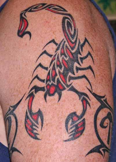 59black scorpio tattoo idea