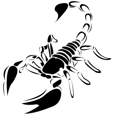 65black scorpio tattoo idea