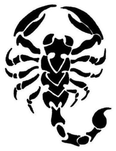 66black scorpio tattoo idea