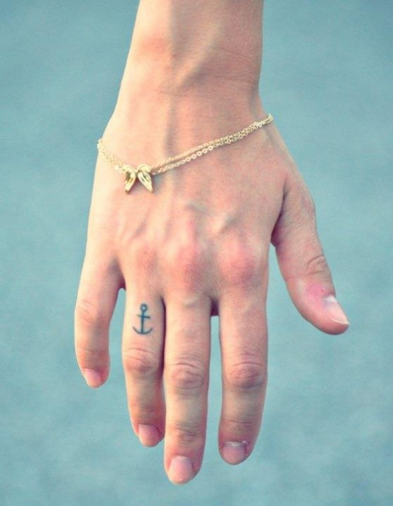 67anchor tattoo