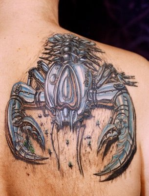 6biomechanical tattoo idea