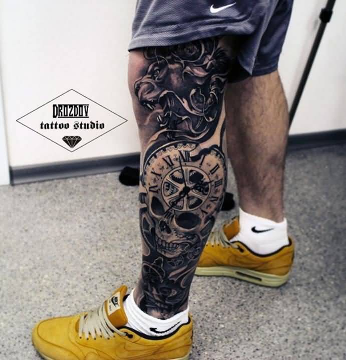8leg tattoo idea