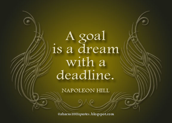 a discussion about setting goals and accomplishing dreams 21 reasons why goal setting is people in different walks of life that setting and achieving goals is an important ethic to make your dreams a.
