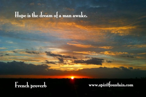 hope-is-the-dream-of-a-awake-inspirational-quote