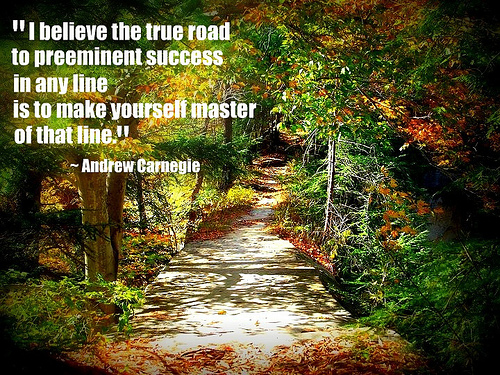 i-believe-the-true-road-to-preeminent-success-in-any-fine-is-to-make-youself-master-of-that-line-inspirational-quote