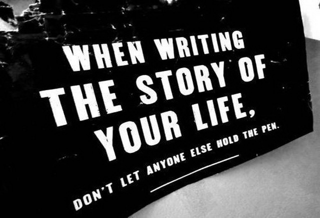 when-writing-the-story-of-your-life-inspirational-quote