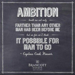 Ambition leads me not only farther than any other man has been before me, but as far as I think it possible for man to go. James Cook