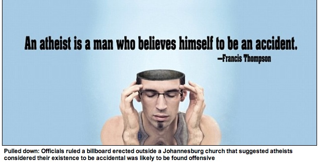 An atheist is a man who believes himself an accident. Francis Thompson