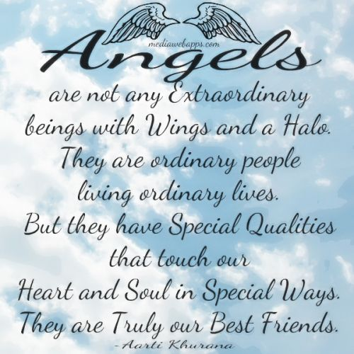 Angels are not any extraordinary beings with wings and a halo. They are ordinary people living ordinary lives. But they have special qualities that...Aarti Khurana
