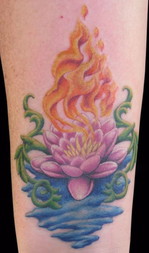 47 Top Lotus In Water Tattoo Designs Goluputtar
