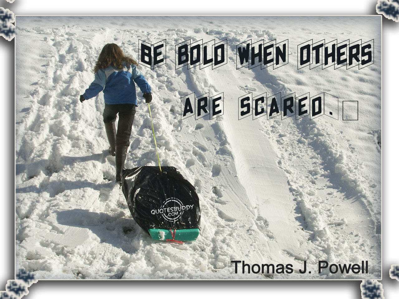 Be Bold When Others Are Scared. Thomas J. Powell