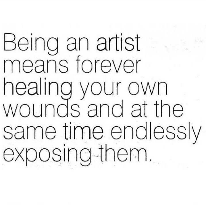 Being an artist means forever healing your own wounds and at the same time endlessly exposing them. Annette Messager