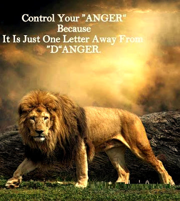 Control Your 'ANGER' Because It Is Just One Letter Away From 'D'ANGER