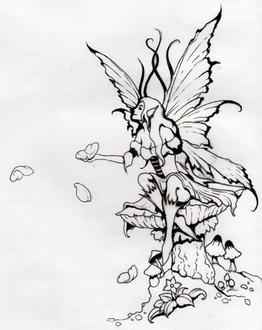 Fairy Tattoo pictures and tattoo designs @ http://tattoocolors.blogspot.com