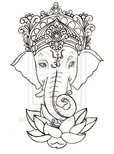 Cool black outline ganesha with lotus flower tattoo stencil photos cool black outline ganesha with lotus flower tattoo stencil photos and ideas goluputtar mightylinksfo