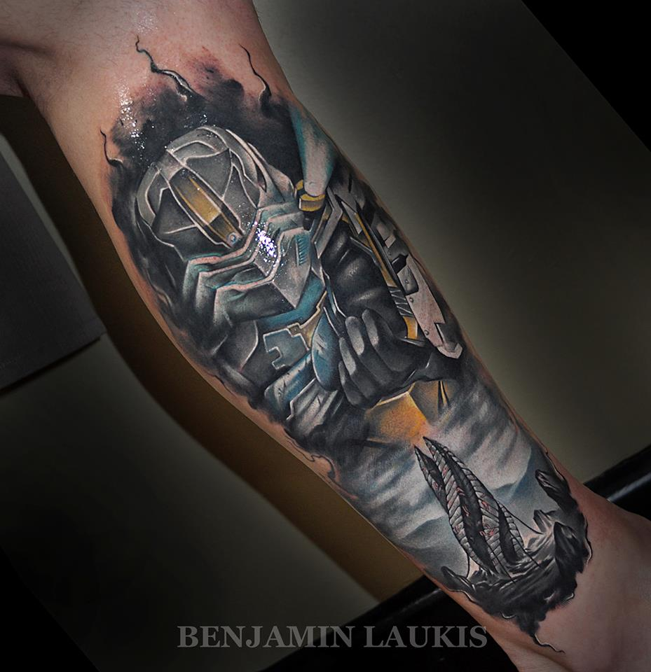 Dead Space Isaac Clarke Right Leg Calf By Benjamin Laukis
