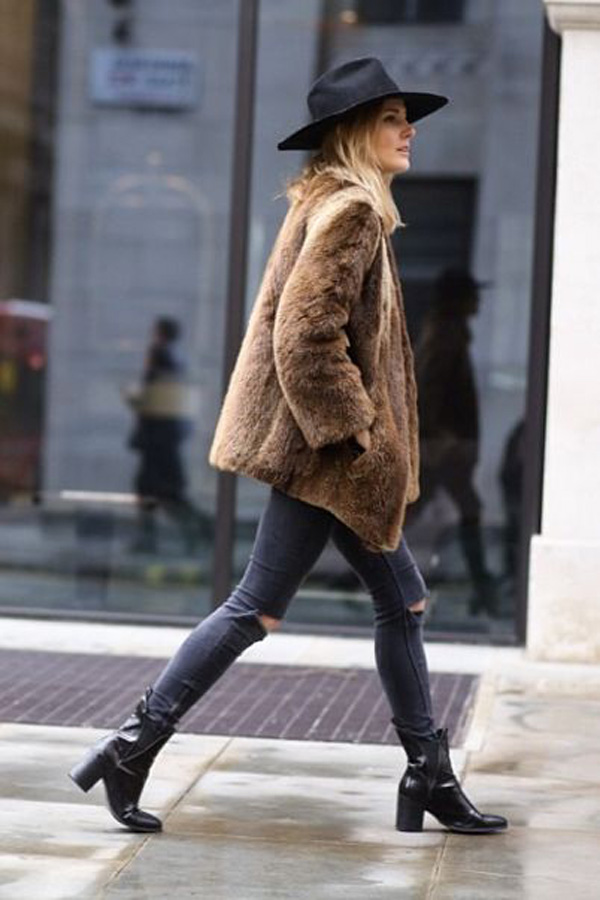 Fur-Denim-Chapeau.-Casual-Winter-Street-Style
