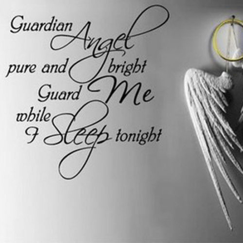Guardian Angel pure and bright guard me while i sleep tonight.