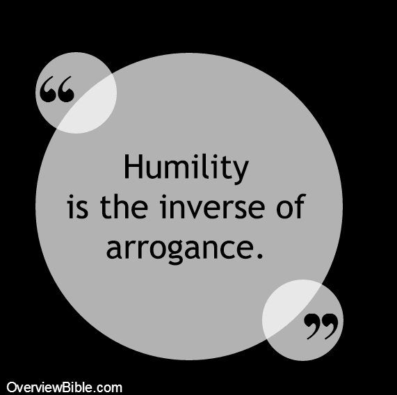 Humility is the inverse of arrogance